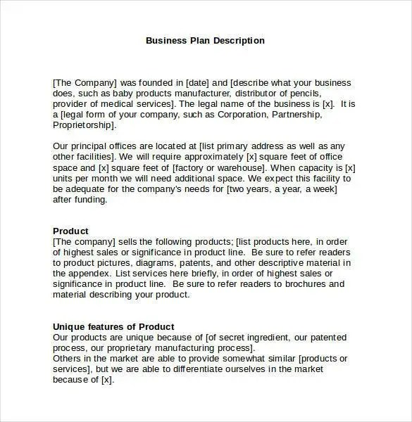 Business Plan Template 47 Examples In Word Free