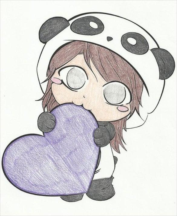 Image of: Cartoon Cute Girl Drawing Template1 Templatenet Cute Drawings 20 Free Pdf Jpg Format Download Free Premium
