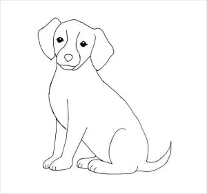 easy drawing dog template templates drawings pdf