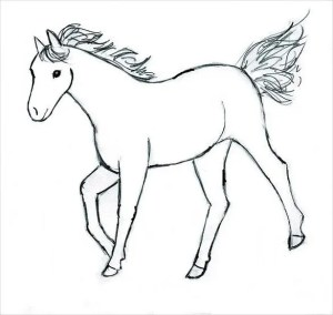 easy drawing horse template templates drawings pdf format