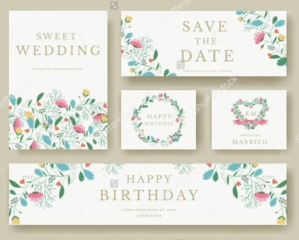 You Are Getting A Template Stack Here With All Needed Bookmark Stationeries For Your Wedding Starting From Save The Date To Invitation Happy