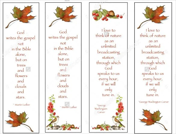 21 Christian Bookmark Templates – Free Sample Example