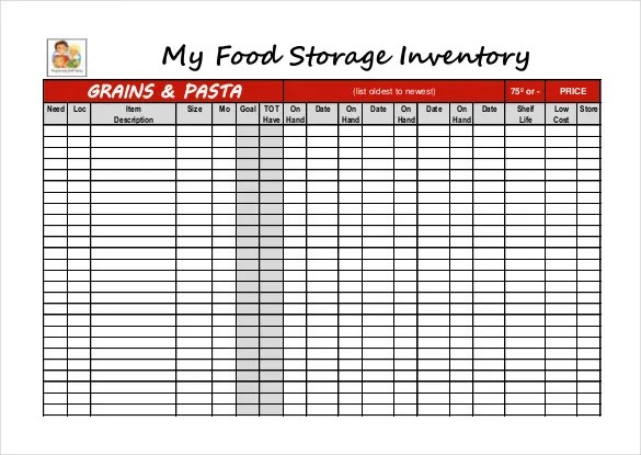 12 Food Inventory Templates  Free Sample Example Format Download  Free  Premium Templates