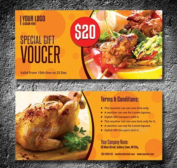 restaurant coupon templates
