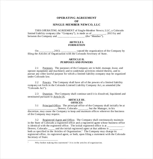 Limited liability company operating agreement _____, llc a membermanaged limited liability company operating agreement this operating agreement is made and entered into effective _____, 20_____, by and among: 13 Operating Agreement Templates Word Apple Pages Google Docs Free Premium Templates