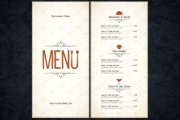51 Restaurant Menu Templates Design Psd Docs Pages
