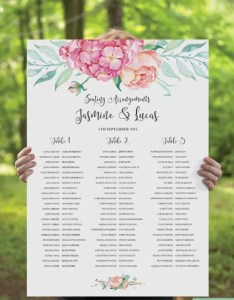 Printable wedding seating chart example template download also templates doc pdf free  premium rh