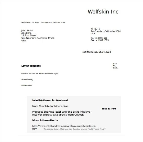 50 Business Letter Templates PDF DOC Free & Premium
