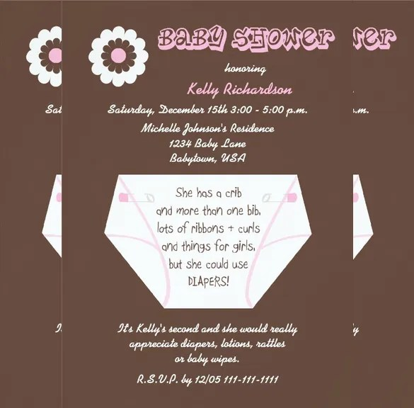 35 Diaper Invitation Templates Psd Vector Eps Ai Free