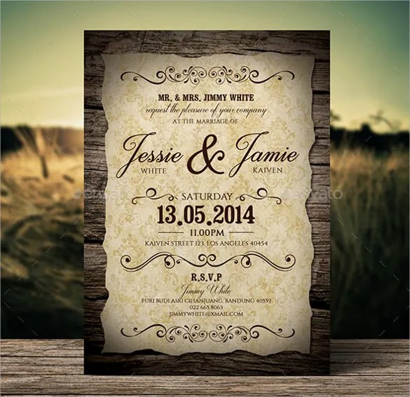 Rustic Wedding Invitation Text