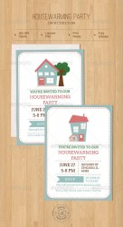 housewarming invitation party template templates simple format invitations card cards invite graphicriver editable