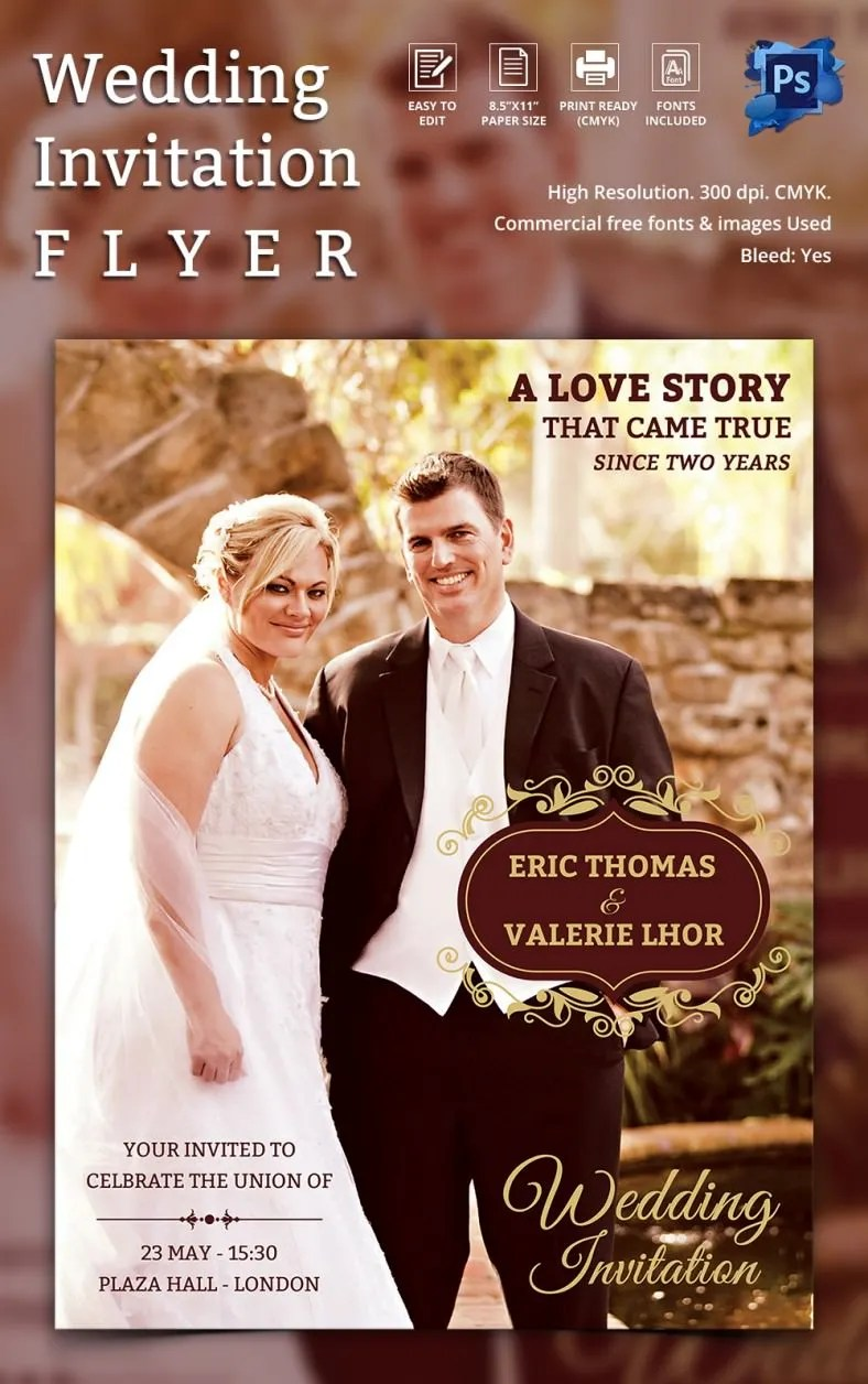 31 PSD Wedding Templates  Free PSD Format Download