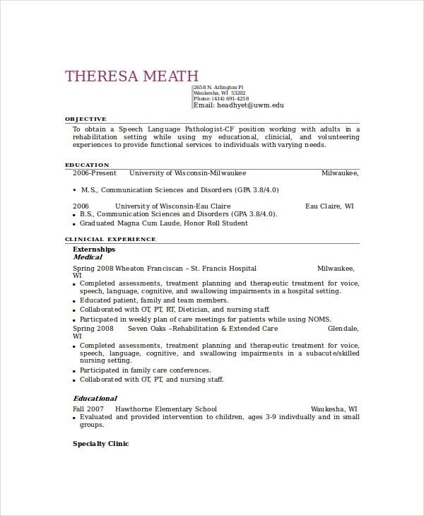 5 Paraeducator Resume Templates  PDF DOC  Free