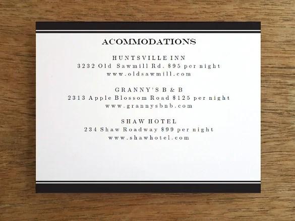 Black Info Dinner Invitation Card