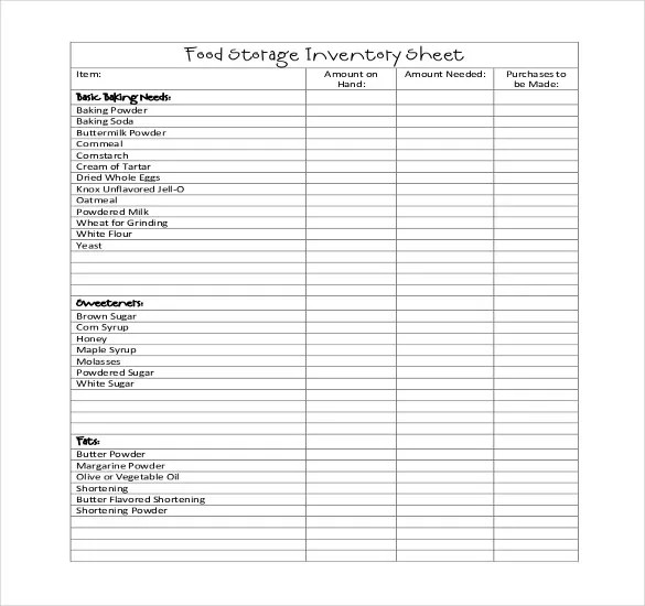 Restaurant Inventory Template  17 Free word Excel Documents Download  Free  Premium Templates
