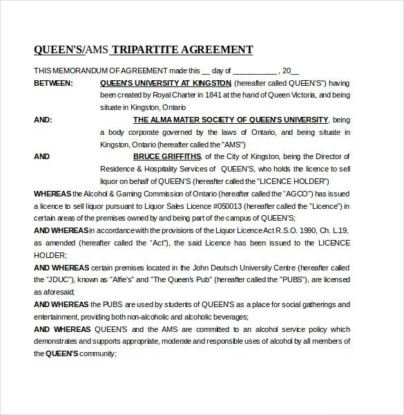 16 Memorandum Of Agreement Templates PDF DOC Free