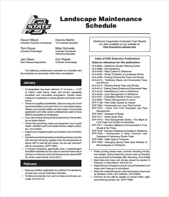 Landscape Equipment Maintenance Checklist. best photos of