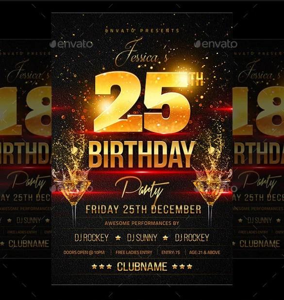 43 Birthday Flyer Templates Word PSD AI Vector EPS