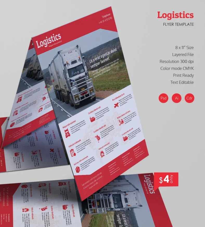 Excellent Logistics Flyer Template Free & Premium Templates
