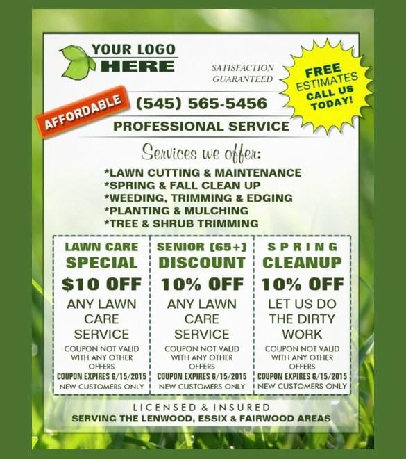 coupon flyer templates - psd