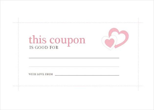 Printable Coupon Free Templates Word