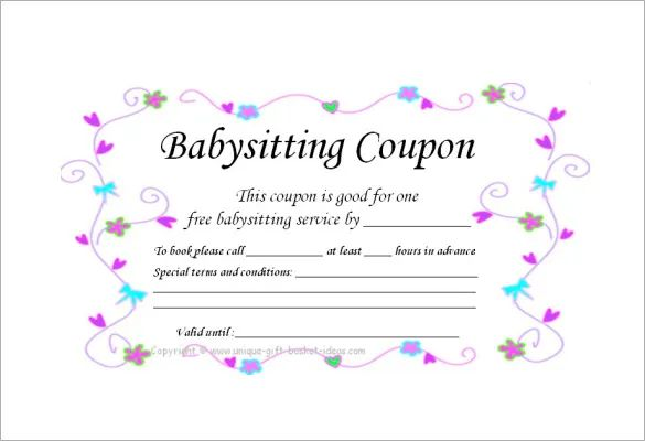 homemade coupon template