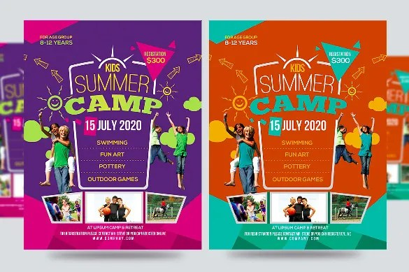 Summer Camp Flyer Templates – 43 Free JPG PSD ESI InDesign