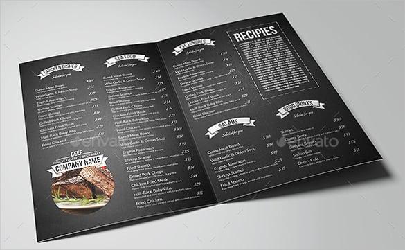 Unique Bar Food Menu Templates Embellishment - Example Resume Ideas ...