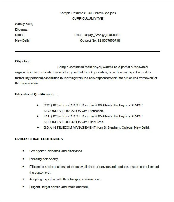 Targeted Resume Template Word