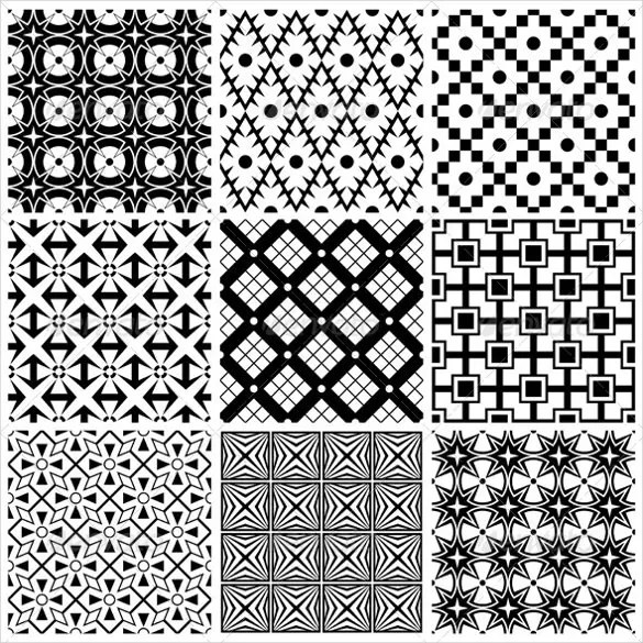 Black And White Pattern  25 Free PSD AI Vector EPS
