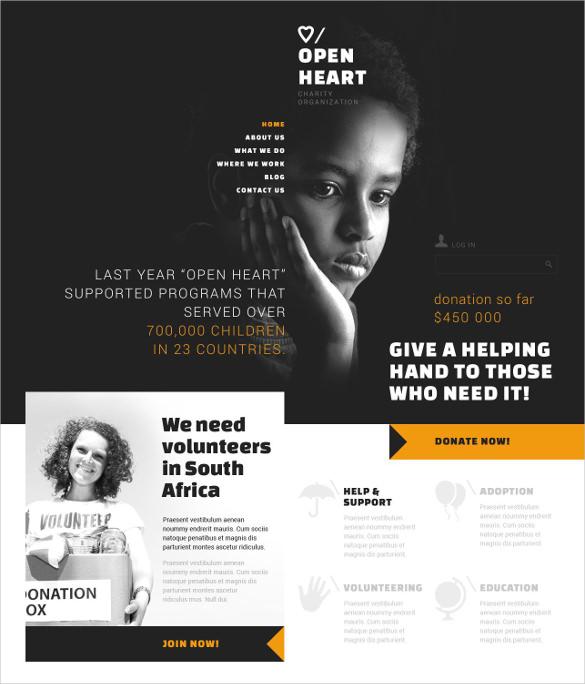 free non profit website templates