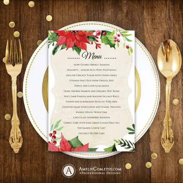 19 Holiday Menu Templates AI PSD Google Docs Apple Pages Free Amp Premium Templates