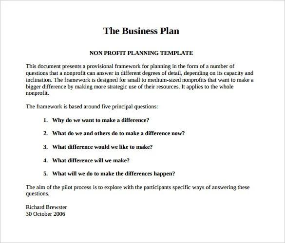 22 Non Profit Business Plan Templates PDF DOC Free