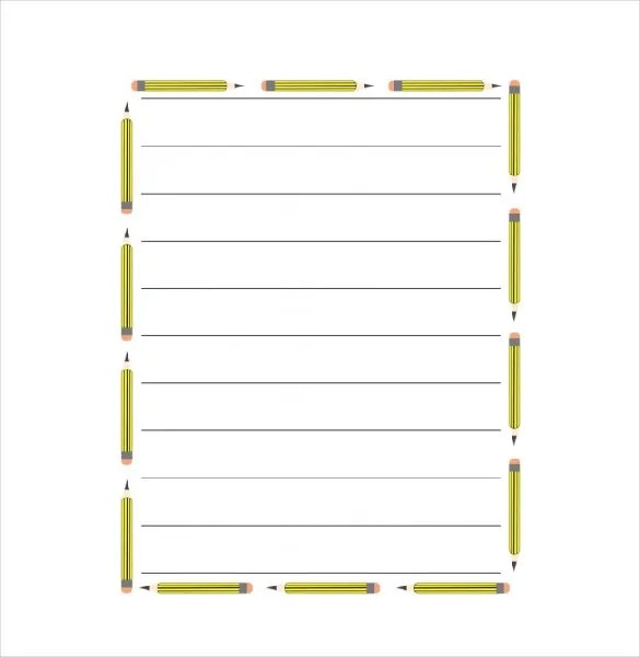 14+ Word Lined paper Templates
