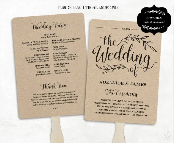 Wedding Program Template  41 Free Word PDF PSD Documents Download  Free  Premium Templates