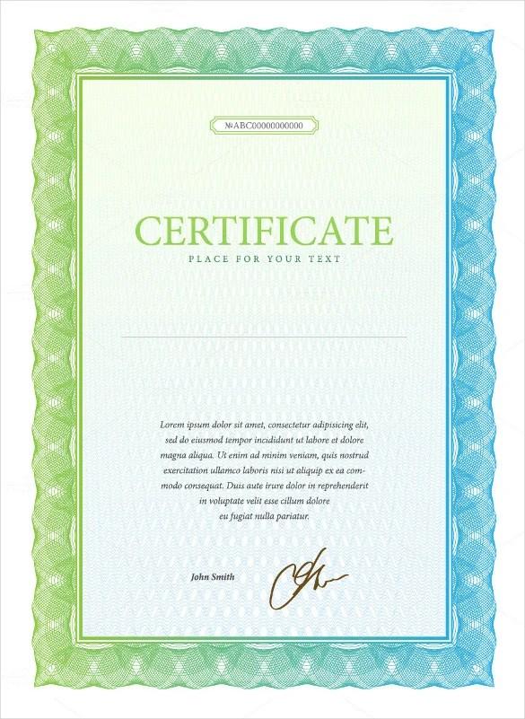 Sample Stock Certificate Free Download
