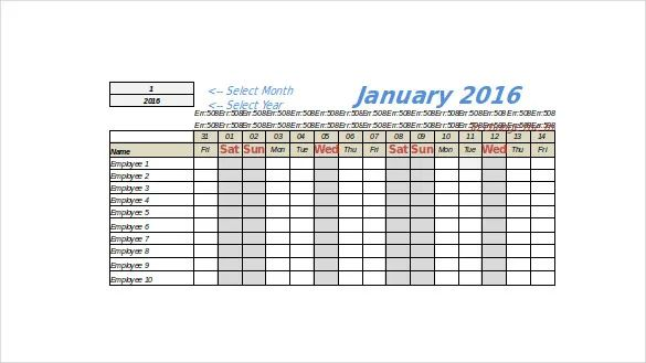 pto tracking template