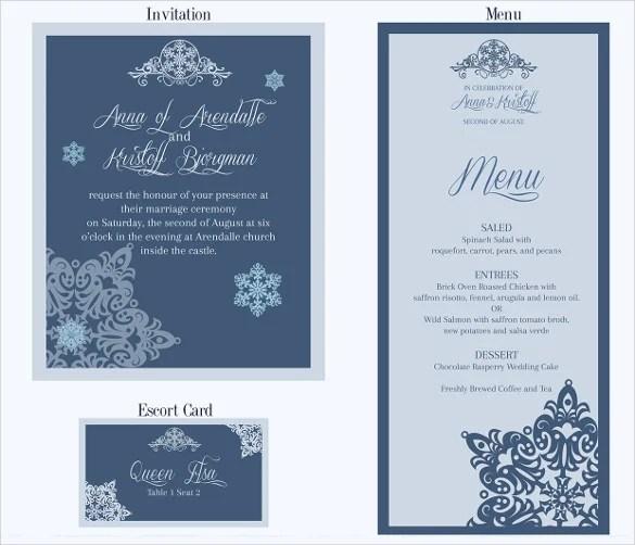 37 Wedding Menu Template Free Sample Example Format