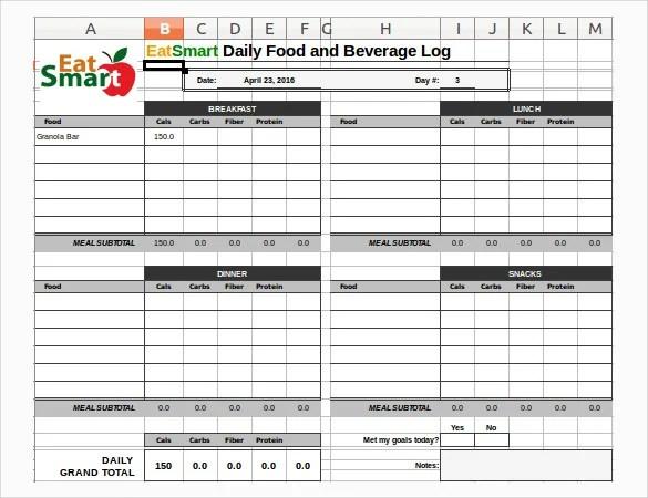 30+ Food Log Templates - DOC, PDF, Excel | Free & Premium Templates