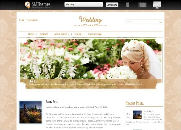 18 Free Wedding Website Themes  Templates  Free  Premium Templates