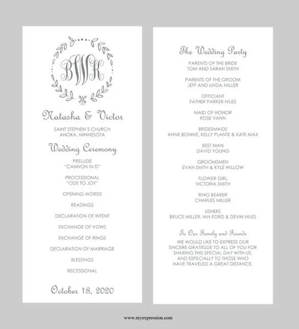 43 Wedding Templates Word Free Premium