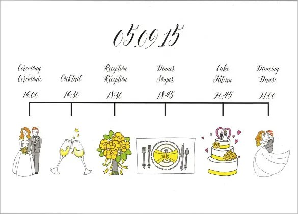 26+ Wedding Itinerary Templates