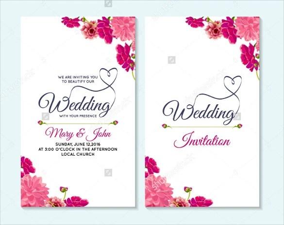 Fl Wedding Card Template