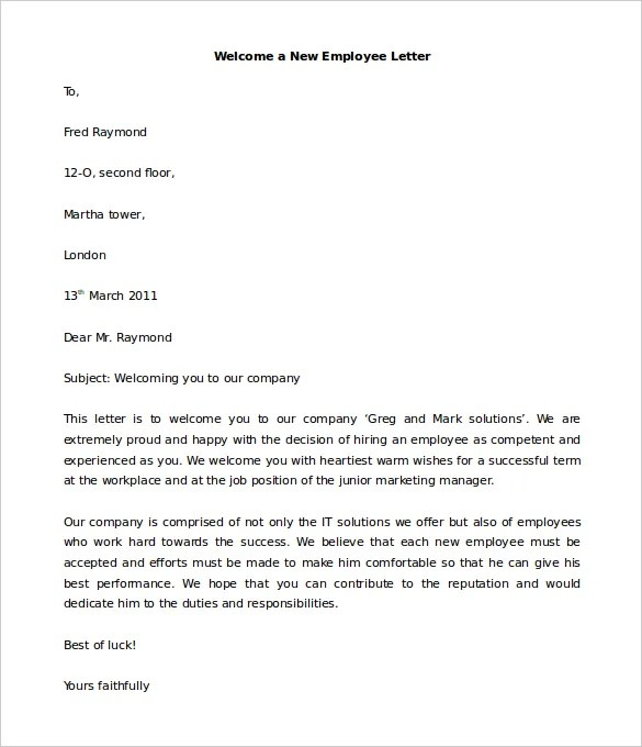 Welcome Letter Format For Hotel Guest Docoments Ojazlink