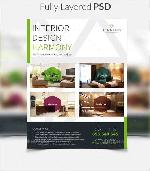 33 Interior Design Flyer Templates Word PSD AI