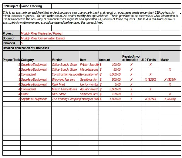 8 invoice tracking templates