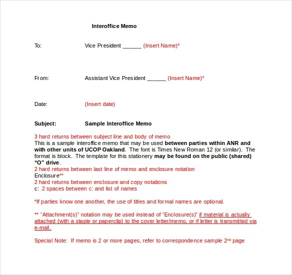 Interoffice Memo Templates 20 Free Sample Example