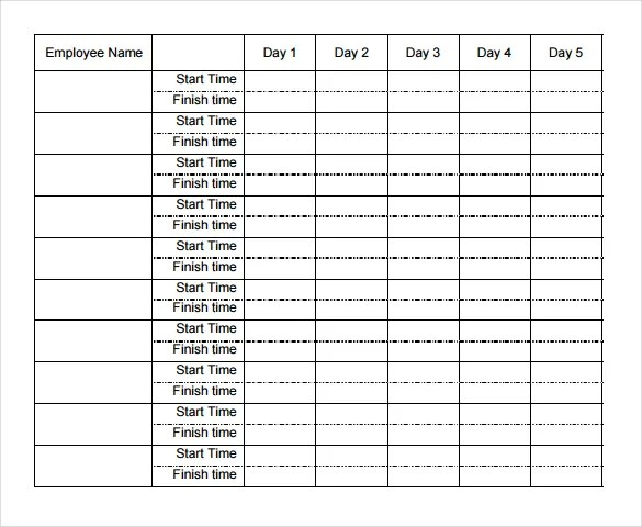 weekly employee time sheet - April.onthemarch.co