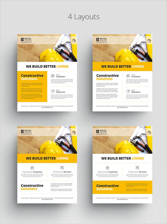 30 Construction Company Flyer Templates PSD Ai