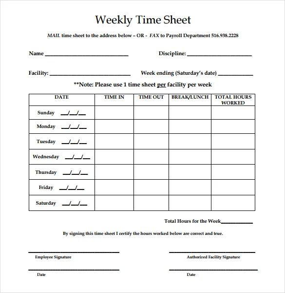 basic timesheet template